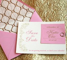 save the date invitations pink and gold wedding luxe brides of adelaide magazine