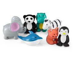 7 Radiergummis in Tierform für 5,95€ - Wer sagt, dass ein Radiergummi immer wie ein Radiergummi aussehen muss? Getarnt als Panda, Wal, Nilpferd, Elefant, Katze, Pinguin und Zebra sorgen diese sieben Radiergummis für Spaß am Radieren.