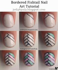 bordered fishtail Tutorial