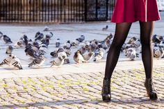 残念黒タイツ女子が街中に!極太な「大根足に見える」NGタイツ3選2016