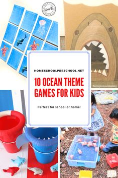 Don't miss these ocean themed games for kids! Add them to your summer preschool lessons about the ocean. They're great for birthday parties, too! Preschool Birthday, Preschool Games, Birthday Party Games, Preschool Lessons, Activities For Kids, Ocean Activities, 5th Birthday, Shark Games For Kids, Memory Games For Kids