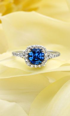 Sapphire Halo Ring Ok girls tell me is this ANOTHER CONTENDER or is just me for having  a weakness for the colour blue?? :D