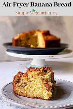 Best Dessert Recipes, Easy Desserts, Delicious Desserts, Amazing Recipes, Banana Bread Recipes, Moist Banana Bread, Air Fryer Recipes Vegan, Walnut Recipes, Good Food