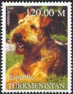 Airedale Terrier stamp from Turkmenistan