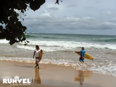 RUNVEL #srilanka #runvel #mirissa #surfers #aworld2discover Surfers, Sri Lanka, Beach, Water, Travel, Outdoor, Surf Girls, Gripe Water, Outdoors