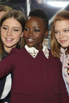 Adèle Exarchopoulos, Lupita Nyong'o and Léa Seydoux [Photo by Dominique Maitre]