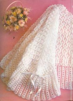 AHORA HACER PUNTO Y GANCHILLO ESTA DE MODA, SON LABORES MUY ENTRETENIDAS Y RELAJANTES. YO ESTOY AHORA APRENDIENDO GANCHILLO Y NUNCA PENSÉ QUE ME IBA A GUSTAR TANTO. EN ESTE MOMENTO ESTOY HACIENDO… Knitted Afghans, Knitted Baby Blankets, Baby Blanket Crochet, Crochet Baby, Knitted Hats, Crochet Square Patterns, Baby Knitting Patterns, Knitting Designs, Crochet Table Runner Pattern
