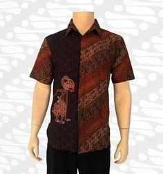 baju batik pria motif wayang arjuna