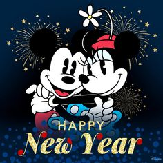 Happy New Year Mickey Mouse and Minnie Mouse Disney Happy New Year, Happy New Year Pictures, Happy New Year Wishes, Happy New Year Greetings, Happy New Year 2019, Merry Christmas And Happy New Year, Happy Pics, Happy Year, Mickey Minnie Mouse