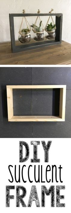 Really cheap and simple DIY Succulent Frame Tutorial! These would make great gifts or decorations…. Really cheap and simple DIY Succulent Frame Tutorial! These would make great gifts or decorations…. Cheap Diy Home Decor, Handmade Home Decor, Diy Furniture Cheap, Furniture Ideas, Deco Furniture, Diy Decorations Cheap, House Decorations, House Furniture, Repurposed Furniture