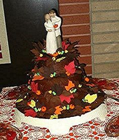 Sheri's Chocolate Leaves Wedding Cake