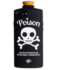 Poison 3D iPhone 6/6S Case (Black) ($38) ❤ liked on Polyvore featuring accessories and tech accessories