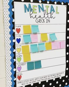 Erin Castillo, an educator at John F. Kennedy High School in Freemont, California, created a mental health check-in chart for her students. education Clever teacher's mental health check-in chart inspires educators to create their own Middle School Classroom, Classroom Community, Classroom Setting, Classroom Design, Future Classroom, Teacher Classroom Decorations, Bulletin Board Ideas For Teachers, Kindergarten Classroom Decor, Decorating High School Classroom