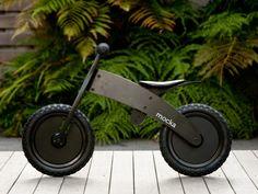 Mocka Ninja Bike - your little one will love zooming around in stealth mode on our top of the range balance bike. A fun and safe bike with adjustable seat Mini Bici, Ninja Bike, Wood Bike, Wooden Bicycle, Baby Bike, Push Bikes, Balance Bike, Kids Bike, Bike Frame