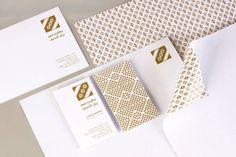 Logo and stationery with gold metallic spot colour detail designed by Rocío Martinavarro for textile producer Zeri Crafts