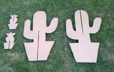 DIY Cardboard Cactus Party Decorations   www.sjwonderlandz.com