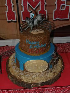 Mrs. Lydia's Kitchen: Rodeo Birthday Cake