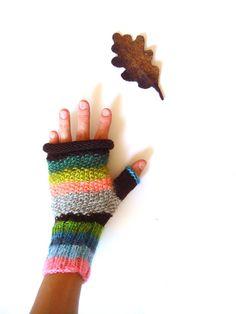 Autumn gloves, women fingerless gloves, mittens, fall accessory, gift