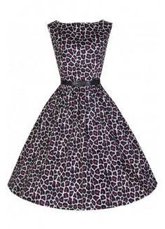 Leopard Audrey Dress