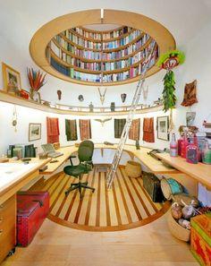 studyroom w/ library