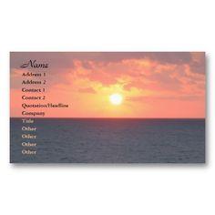 Florida Sunrise Business Cards