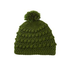 a45e3a37d6c Items similar to Womens Mens Bobble Pom Pom Slouchy Beanie Hat in Olive  Green on Etsy