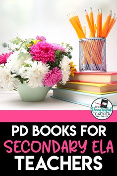 The Best Professional Development Books for Middle School ELA and High School English Teachers - Here is a carefully curated list of my favorite teacher professional development books. From learning how to be a more inclusive teacher to learning how to incorporate more writing strategies into your curriculum, you'll love these 10 ELA teacher PD books. Teacher Professional Development | Secondary ELA Teacher PD Books | Teacher Professional Development Books Writing Strategies, Teaching Strategies, Learning Resources, Middle School Ela, Middle School Teachers, My Favourite Teacher, Professional Development For Teachers, First Year Teachers, English Teachers