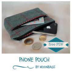 free tutorial phone pouch