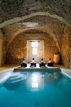 Inside Pool i want this in my dream home. the perfect indoor pool | enjoy the