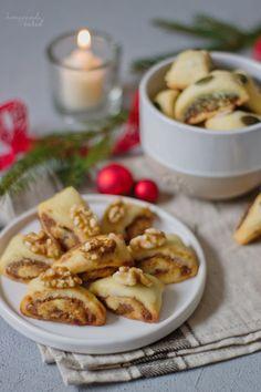 homemade and baked Food-Blog: {Rezept} In der Weihnachtsbäckerei | Walnuss- und Kürbiskernröllchen Ober Und Unterhitze, Christmas Cookies, Cereal, Homemade, Breakfast, Blog, Biscuits, Bakken, Thermomix