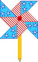This pinwheel craft was really fun for a 4th of july activity with my summer school class :)