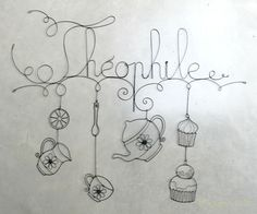 Une enseigne pour un salon de thé : Théophile.