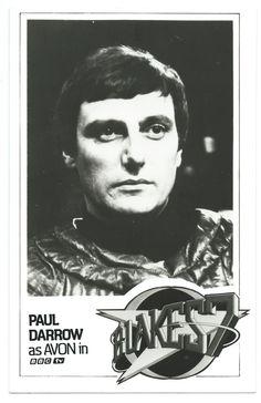 Paul Darrow as Avon in Blake's 7 - promo photo circa 1978 from the BBC.