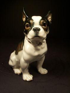 Lifelike Antique Meissen Porcelain Figure of Bulldog | eBay