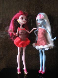 Monster High Doll crochet dresses