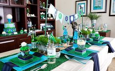 Amazing Golf party- love everything on this table