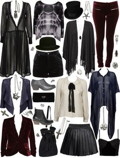 I love everything in this posh goth selection. Black, plum, and white velvet, chiffon, and cordoroy.