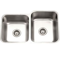 Houzer STE-2300SL-1 Eston Series Undermount Stainless Steel 60/40 Double Bowl Kitchen Sink 18 Gauge