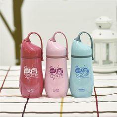 300ml Thermal Bottle Kawaii Hello CaiCai Vacuum Copos Termicos Cartoon Stainless Steel Water Bottle Women Kids Vacuum Flasks
