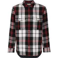 Burberry check shirt ($500) ❤ liked on Polyvore featuring men's fashion, men's clothing, men's shirts, men's casual shirts, black, mens long sleeve shirts, mens button front shirts, mens checked shirts, mens shirts and mens long sleeve collared shirts
