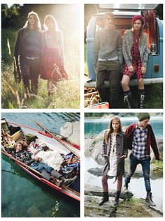 I particularly love the couple in the boat. So sweet! From an editorial in Teen Vogue, but I couldn't find the photographer