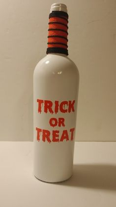 Trick+or+Treat+Upcycled+Painted+Wine+Bottle