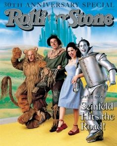 """Cast of """"Seinfeld"""". Rolling Stone May 1998"""