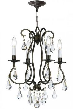 Vivienne 4-Light Mini Chandelier - Crystal Chandelier - Ceiling Light Fixtures - Chandelier | HomeDecorators.com