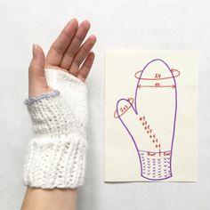 Mittens Pattern, Knit Mittens, Knitted Gloves, Fingerless Gloves, Baby Hats Knitting, Knitting Charts, Knitting Patterns, Crochet Baby, Knit Crochet