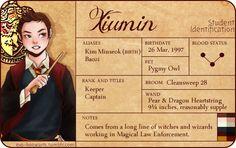 HOGWARTS EXO: XIUMIN - GRYFFINDOOR / PATRONUS (PUFFIN)