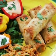 Baked Chicken Taquitos. Make without the chicken.