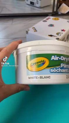 Diy Crafts Hacks, Cute Crafts, Diys, Polymer Clay Crafts, Diy Clay, Clay Art Projects, Cute Clay, Diy Canvas Art, Air Dry Clay