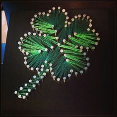 4-H project but with the H's in the clover!!! Totally doing this for the fair!!