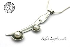 Création pendentif argent et perle